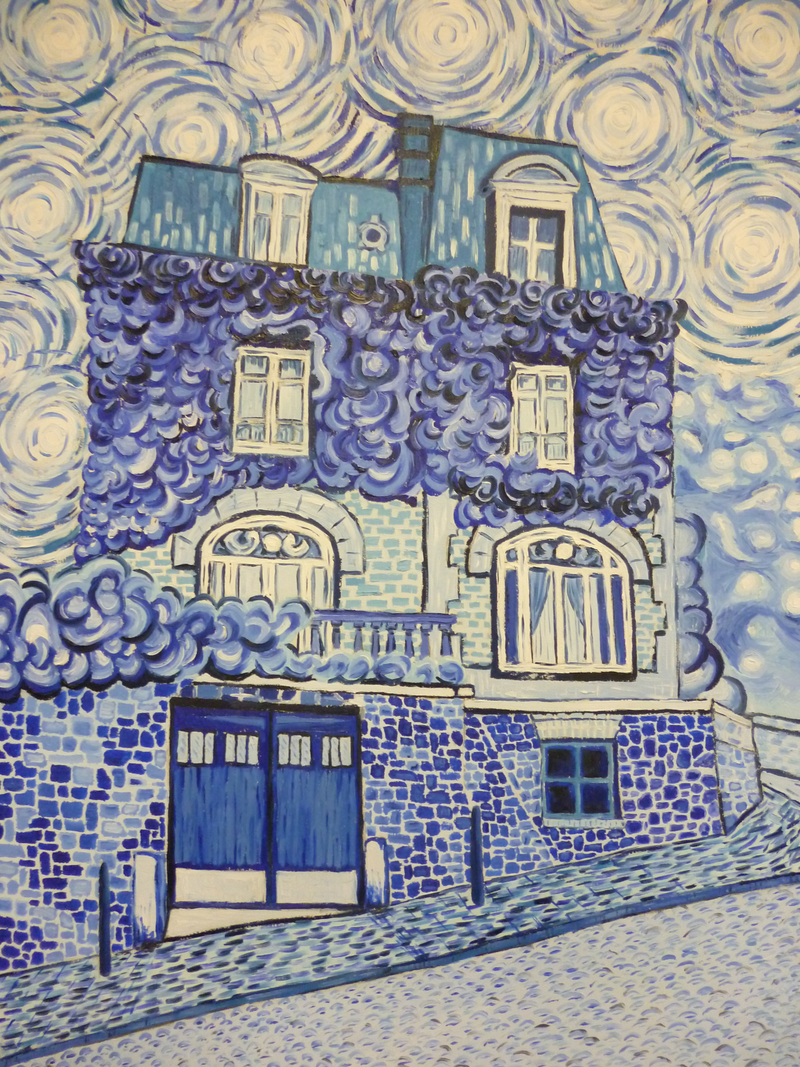 (CreativeWork) 'MONTMARTRE MOODY BLUE' by Nicholas Belchamber. Oil Paint. Shop online at Bluethumb.