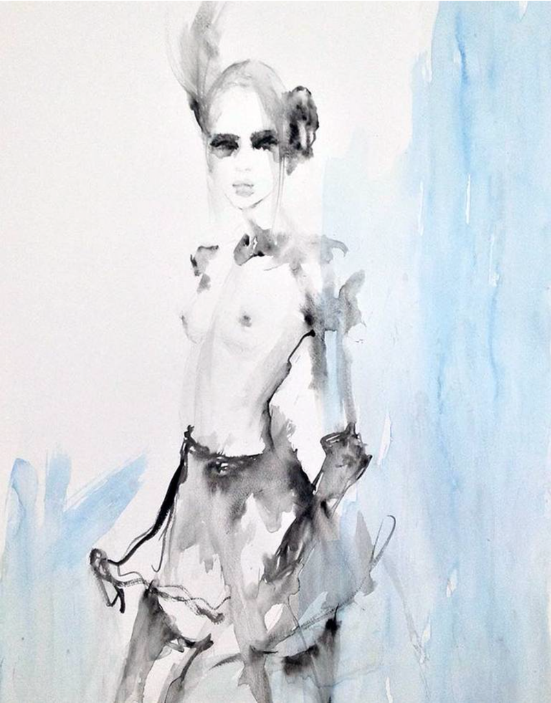 (CreativeWork) Edie by Fiona Maclean. Watercolour Paint. Shop online at Bluethumb.