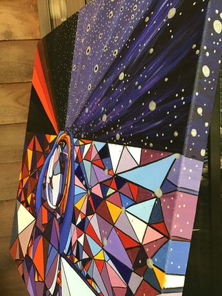(CreativeWork) Migraine Three by Ericka Baker. Acrylic Paint. Shop online at Bluethumb.