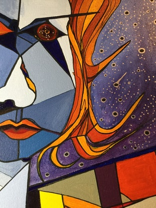 (CreativeWork) Migraine One by Ericka Baker. Acrylic Paint. Shop online at Bluethumb.