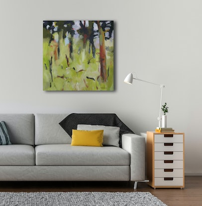 (CreativeWork) Fallen branches by Susan Lhamo. Acrylic Paint. Shop online at Bluethumb.