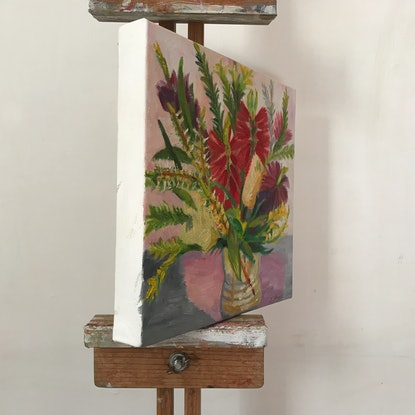 (CreativeWork) Small natives from Windsor by Jen Schroeder. Oil Paint. Shop online at Bluethumb.