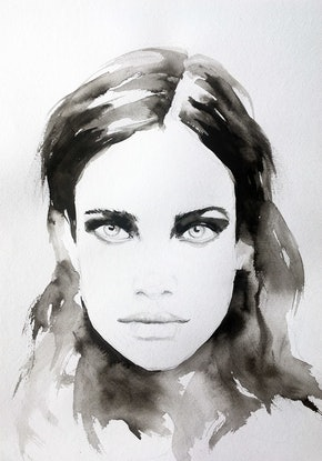 (CreativeWork) Belle by Fiona Maclean. Watercolour Paint. Shop online at Bluethumb.