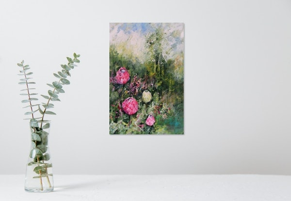 (CreativeWork) Protea  Beauty by Maria Cross. Acrylic Paint. Shop online at Bluethumb.
