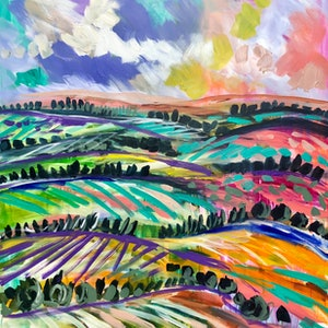 (CreativeWork) the rising hills  by Amanda Brooks. #<Filter:0x00007f5a0931dc78>. Shop online at Bluethumb.