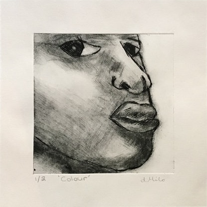 (CreativeWork) 'Colour' drypoint print. Ed. 1 of 2 by dMilo .. Print. Shop online at Bluethumb.