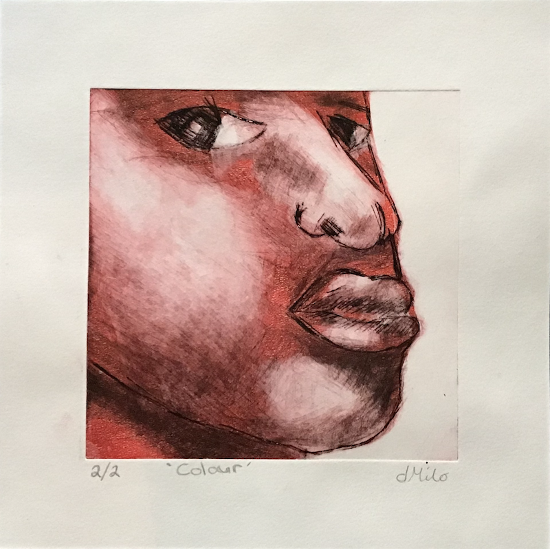 (CreativeWork) 'Colour' drypoint print. Ed. 2 of 2 by dMilo .. Print. Shop online at Bluethumb.