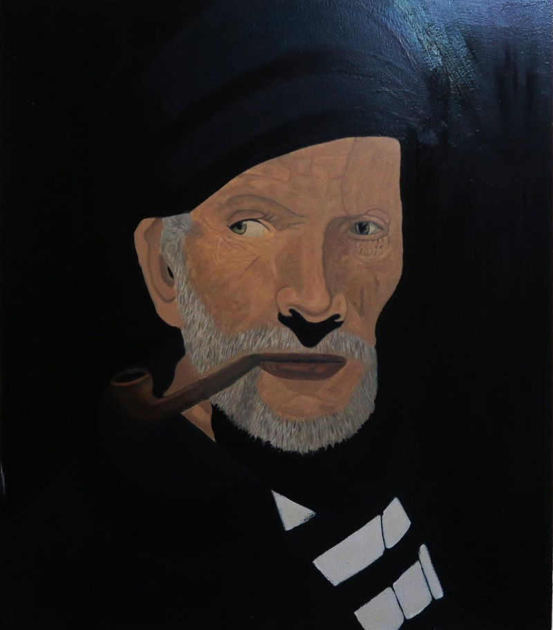 (CreativeWork) The old man and the Sea by Tony E Perks. Oil Paint. Shop online at Bluethumb.
