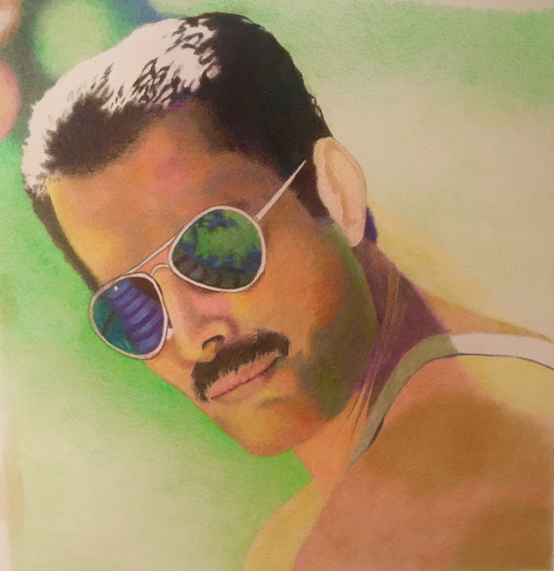 (CreativeWork) Freddie by sara bell. Drawings. Shop online at Bluethumb.
