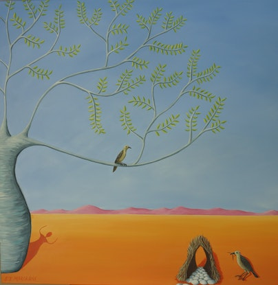 (CreativeWork) Finishing Touch by Sarah Jane Marchant. Acrylic Paint. Shop online at Bluethumb.
