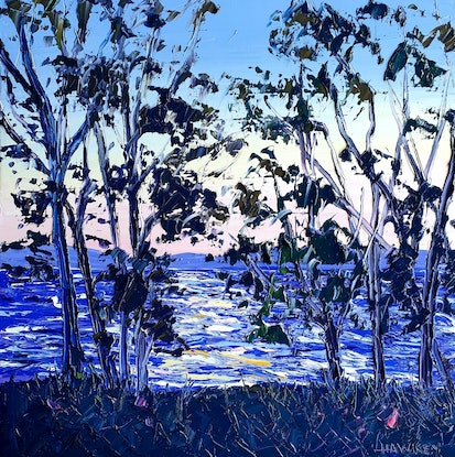 (CreativeWork) Summerland by Angela Hawkey. Oil Paint. Shop online at Bluethumb.