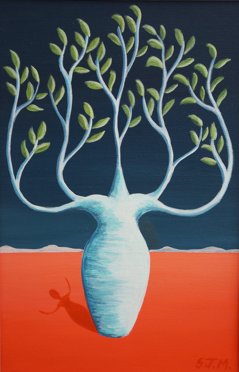 (CreativeWork) Little Boab Midnight by Sarah Jane Marchant. Acrylic Paint. Shop online at Bluethumb.