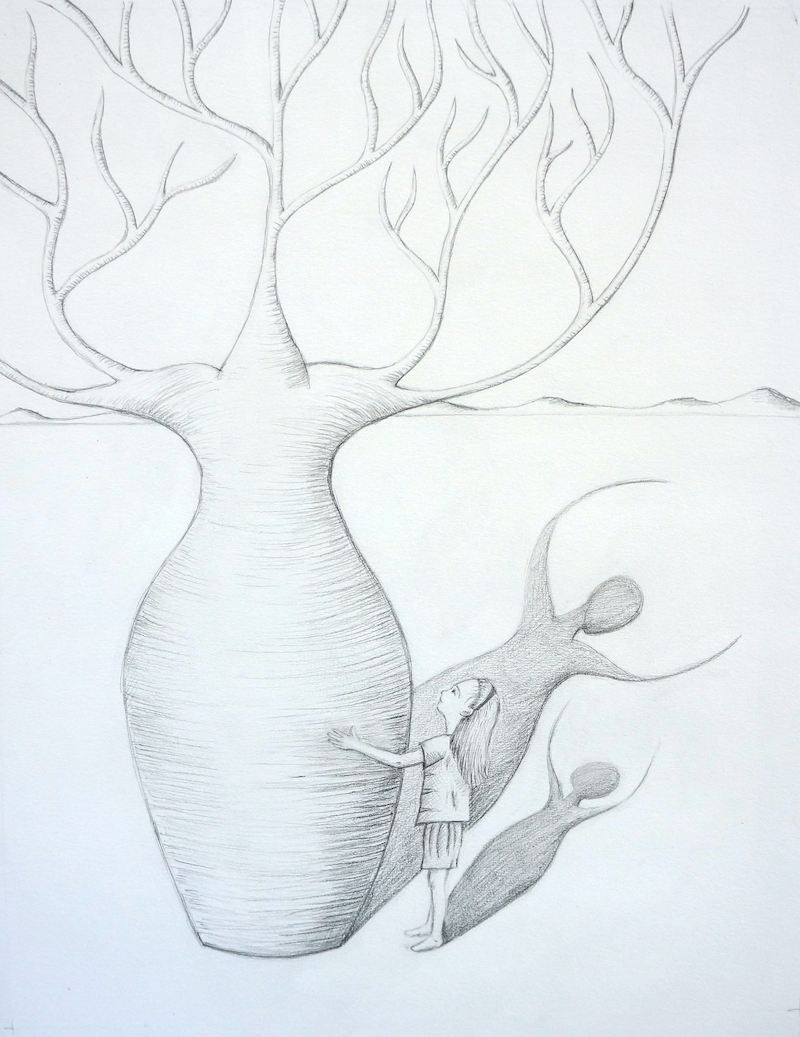 (CreativeWork) She Always Knew Where Her Heart Was by Sarah Jane Marchant. Drawings. Shop online at Bluethumb.