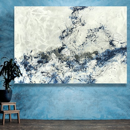 (CreativeWork) Reach For The Sky by Lynne Godina-Orme. Acrylic Paint. Shop online at Bluethumb.