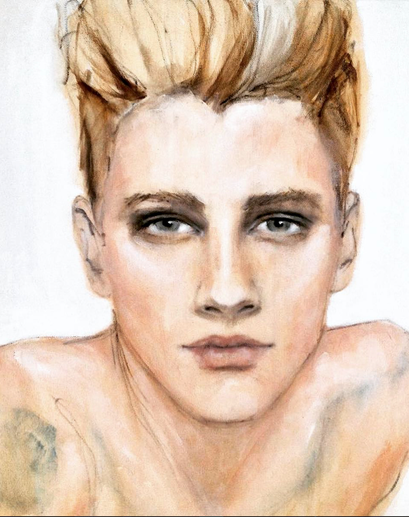 (CreativeWork) Chelsea Boy by Fiona Maclean. Oil Paint. Shop online at Bluethumb.