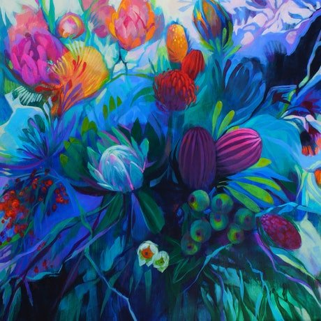 (CreativeWork) Wild and Free by Sandra Michele Knight. Acrylic Paint. Shop online at Bluethumb.
