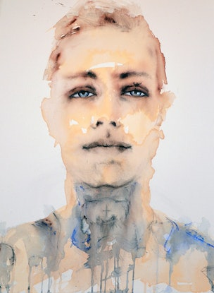 (CreativeWork) Matty by Fiona Maclean. Acrylic Paint. Shop online at Bluethumb.