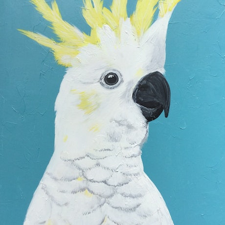 (CreativeWork) The Guest by Emma Wreyford. Acrylic Paint. Shop online at Bluethumb.