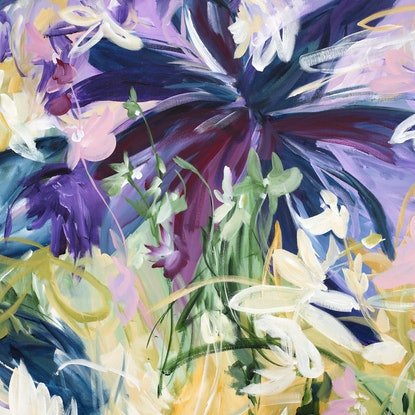 (CreativeWork) Exotic Breeze by Amber Gittins. Acrylic Paint. Shop online at Bluethumb.