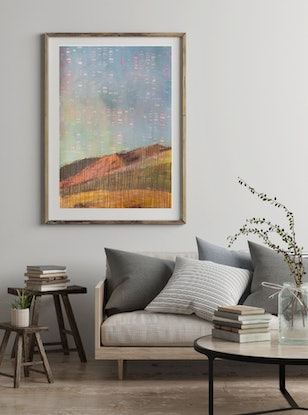 (CreativeWork) Urban Landscape: Palm Springs by Tarli Bird. Mixed Media. Shop online at Bluethumb.