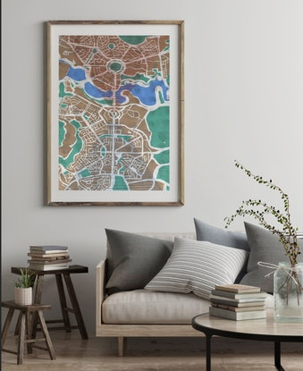 (CreativeWork) Canberra by Tarli Bird. Mixed Media. Shop online at Bluethumb.