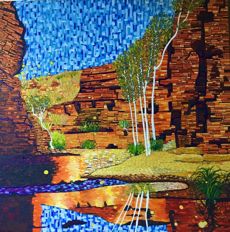 (CreativeWork) Daydreaming, Karijini National Park by Ericka Baker. Acrylic Paint. Shop online at Bluethumb.