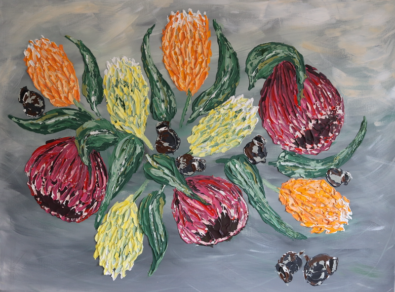 (CreativeWork) Australian Natives (Custom Order) by Kat Schmitt. Acrylic Paint. Shop online at Bluethumb.