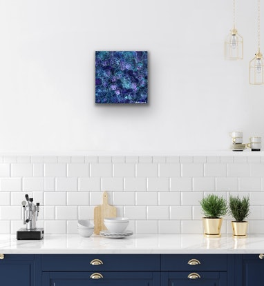 (CreativeWork) Right By My Side by Kristen Ladgrove. Acrylic Paint. Shop online at Bluethumb.