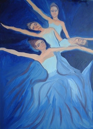 (CreativeWork) THE BALLET 6. by Paula Reilly. Oil Paint. Shop online at Bluethumb.