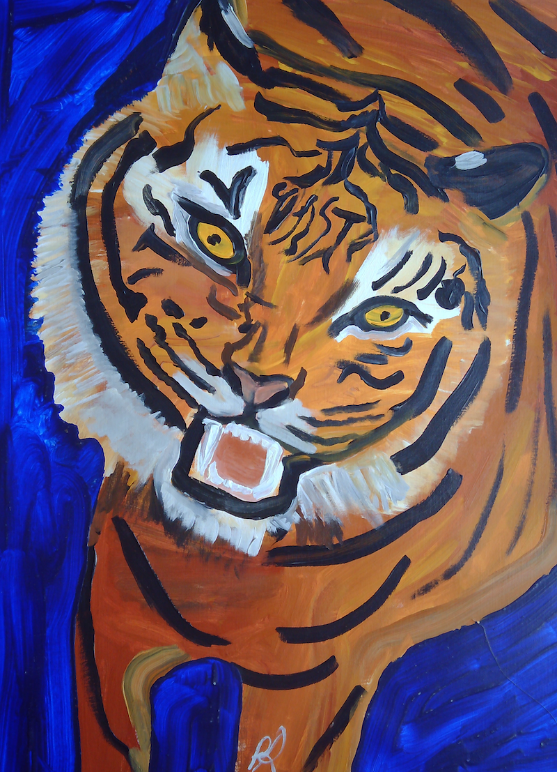 (CreativeWork) THE SNARLING DARLING. by Paula Reilly. Acrylic Paint. Shop online at Bluethumb.