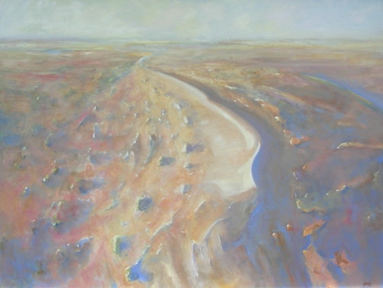 (CreativeWork) Desert Dunes by Robin Hines. Oil Paint. Shop online at Bluethumb.