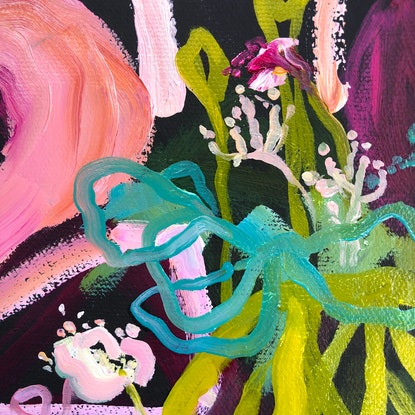 (CreativeWork) Freedom - Flowers by Jen Shewring. Oil Paint. Shop online at Bluethumb.