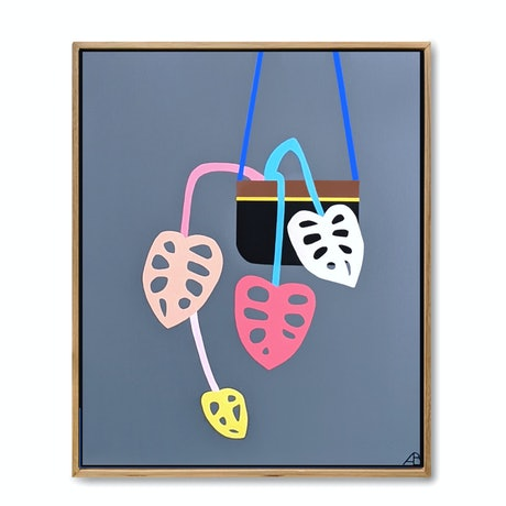 (CreativeWork) Hanging Planter No.1 by Andria Beighton. Acrylic Paint. Shop online at Bluethumb.