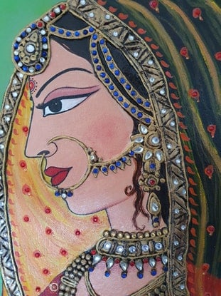 (CreativeWork) A Queen by Munesh Duhan. Acrylic Paint. Shop online at Bluethumb.