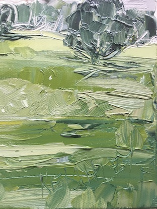 (CreativeWork) 'Moving On' - Byron Bay Hinterland  by Michelle Keighley. Oil Paint. Shop online at Bluethumb.