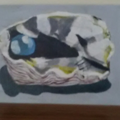 (CreativeWork) Pearl  by Mitch Ianni. Acrylic Paint. Shop online at Bluethumb.