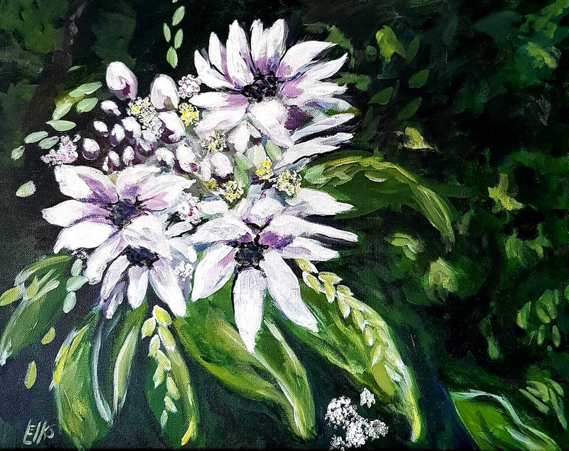 (CreativeWork) HOPE & PROMISE by Leigh Elks. Acrylic Paint. Shop online at Bluethumb.