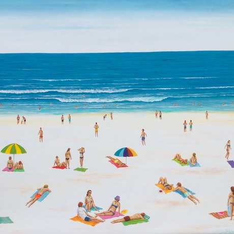 (CreativeWork) Summer daze by Mark Sinclair. Acrylic Paint. Shop online at Bluethumb.