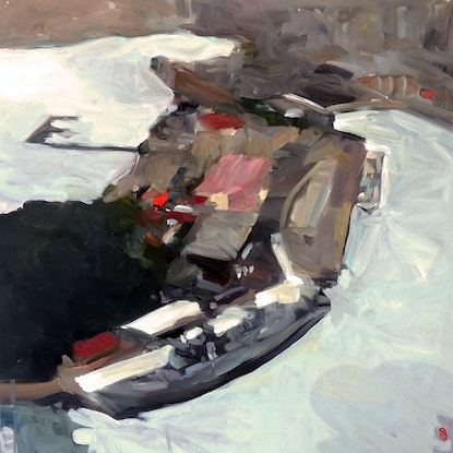 (CreativeWork) Garden Island Sydney by Ray Saunderson. Oil Paint. Shop online at Bluethumb.