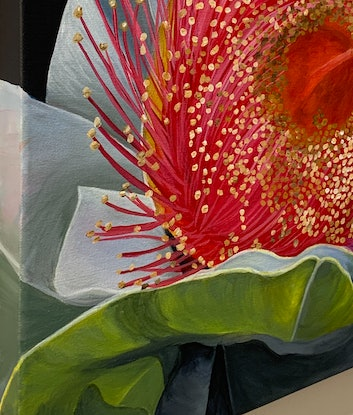 (CreativeWork) Coral treasure by Hayley Kruger. Acrylic Paint. Shop online at Bluethumb.