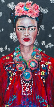 (CreativeWork) Frida Guiding Limited Edition Large Giclee Fine Art Print      by Tanya Cole. Print. Shop online at Bluethumb.