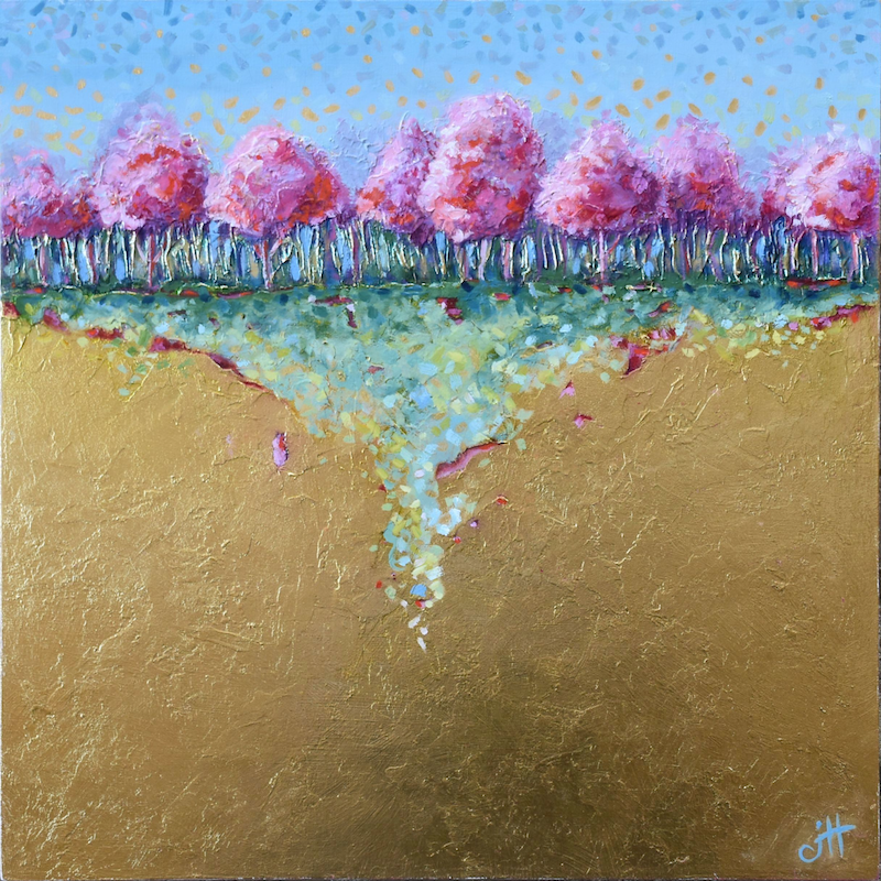 (CreativeWork) RED TREES by Janette Hafez. Mixed Media. Shop online at Bluethumb.