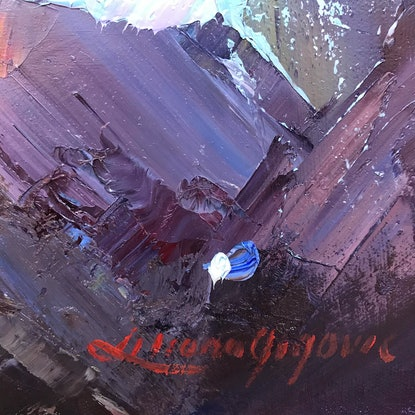 (CreativeWork) The wave No 4 by Liliana Gigovic. Oil Paint. Shop online at Bluethumb.