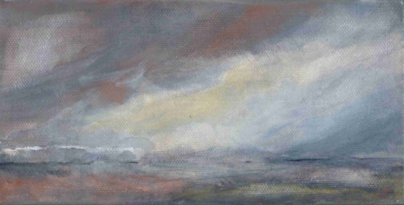 (CreativeWork) and we watched the silver sea by Kim Barrett. Acrylic Paint. Shop online at Bluethumb.