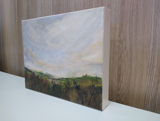 (CreativeWork) in the evening we looked back toward home by Kim Barrett. Acrylic Paint. Shop online at Bluethumb.