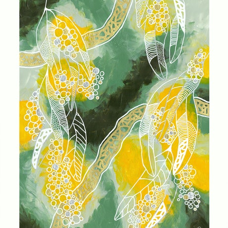 (CreativeWork) Tranquility by Penny Matchett. Acrylic Paint. Shop online at Bluethumb.