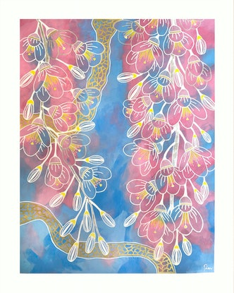 (CreativeWork) Serenity by Penny Matchett. Acrylic Paint. Shop online at Bluethumb.