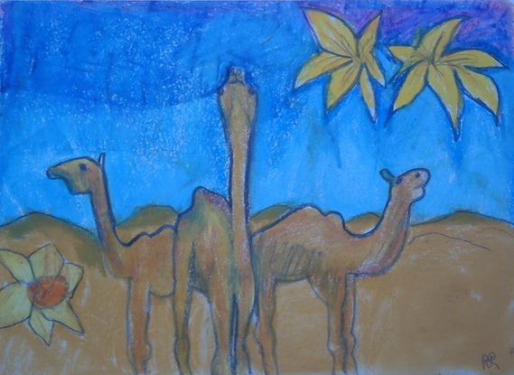 (CreativeWork) CAMEL SKIES. by Paula Reilly. Drawings. Shop online at Bluethumb.