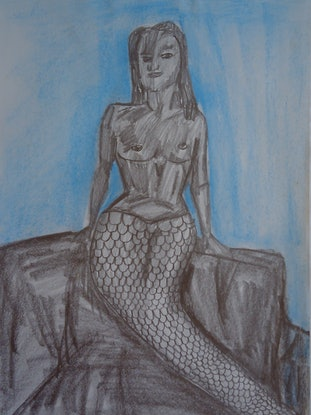 (CreativeWork) MERMAID OF THE SEAS. by Paula Reilly. Drawings. Shop online at Bluethumb.