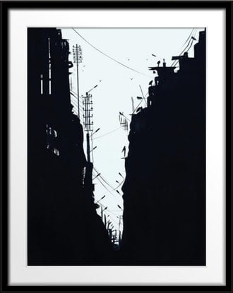 (CreativeWork) Jammu Street by Shabs Beigh. Mixed Media. Shop online at Bluethumb.